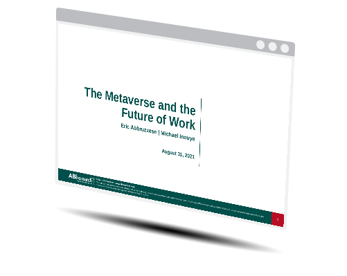 The Metaverse and the Future of Work Image